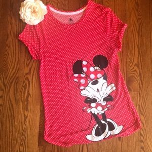 Minnie Tee shirt blouse, M